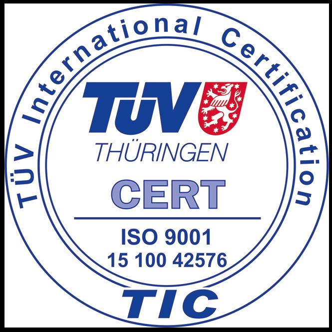 TÜV Thüringen Zertifizierungszeichen DIN ISO 9001